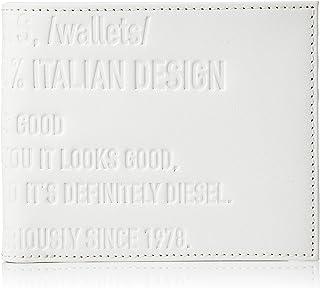 (ディーゼル) DIESEL ユニセックス カウレザー ロゴ 二つ折り財布 X06734P0503