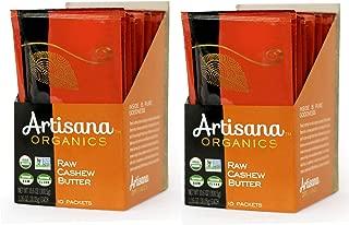Artisana Organics Non GMO Raw Cashew Butter, 20 Snack Pouches