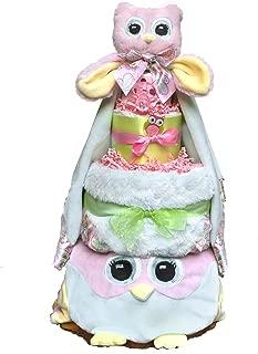 owl diaper cake