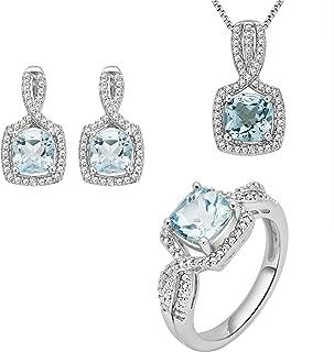 Topaz and Diamond Accent Ensemble 3 Piece Jewelry Set