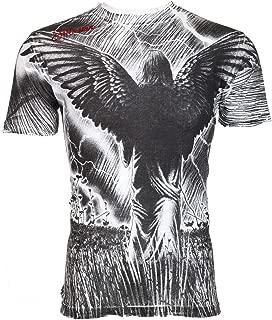 Affliction Men T-Shirt Field of Dreams Tattoo Motorcycle Biker MMA UFC Jeans