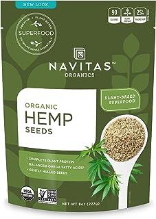 Navitas Organics Hemp Seeds, 8oz bag,15 servings — Organic, Non-GMO, Low Temp-Hulled, Gluten-Free