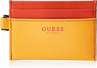 Guess Mens Card Holder, Yellow/Coral Red, One Size - 31GUE20053