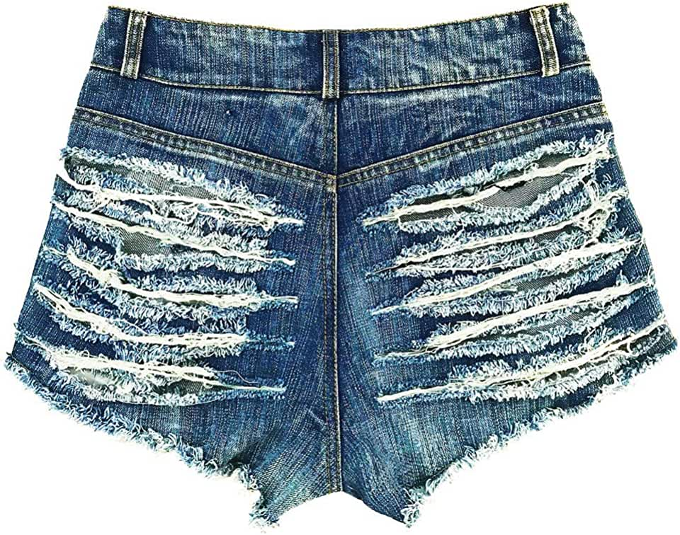 Everyday Bras Women's Summer Denim Shorts Holes Nightclubs High Waist Shorts