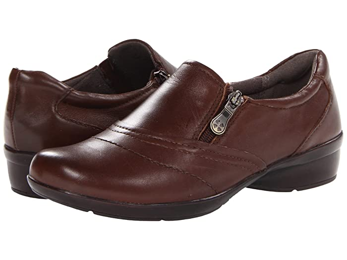 Naturalizer  Clarissa (Coffee Bean Leather) Womens Flat Shoes