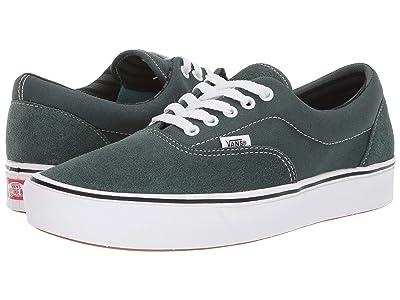 Vans ComfyCush Era ((Stripes) Trekking Green/True White) Athletic Shoes