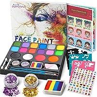 Jojoin Colori Trucco Viso Bambini, 16 Colori Body Paint Tavolozza con 4 Grandi Colori di Base, Split Cake Face Paint, 94...