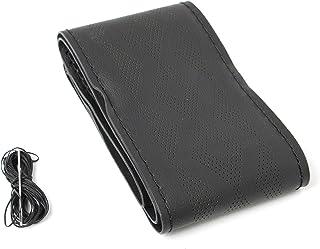 JSD Steering Wheel Cover,PVC,Black,39 Cm