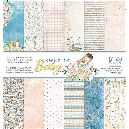 Sweetie Baby Lot de 12 papiers de scrapbooking 30,5 x 30,5 cm