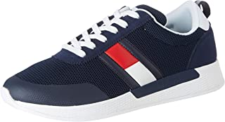 Flexi Tommy Jeans Flag Sneaker, Zapatillas para Hombre, Azul (Twilight Navy C87), 41 EU
