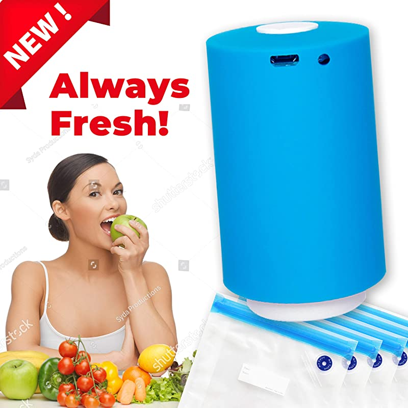Portable Vacuum Sealer With USB Interface For Charging Mini Vacuum Pump For Food Storage And Clothes Vacuum Sealer Handheld For Multi Purpose Usage With Zipper Bags Features
