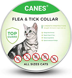 SOBAKEN Flea and Tick Prevention for Dogs and Cats, Natural and Hypoallergenic Flea and Tick Collar for Dogs and Cats, One Size Fits All, 8 Month Protection, Charity