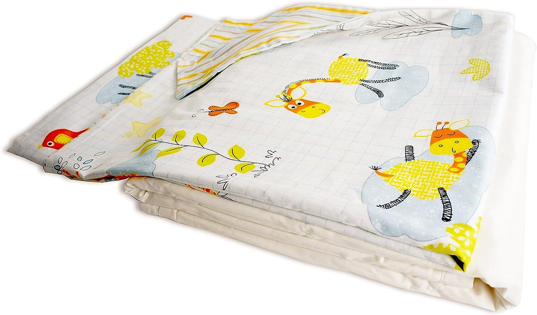 Cotton Flower Toddler Quilt (Quilt + Duvet Cover) (Giraffe)