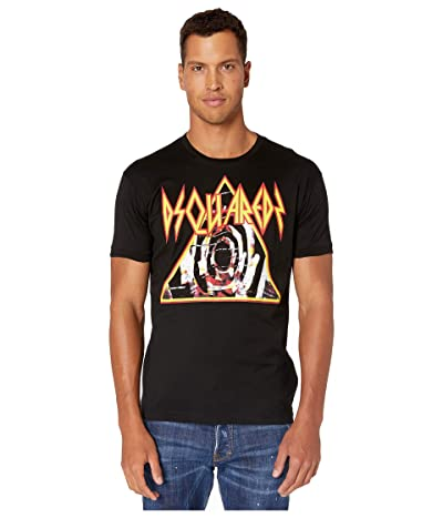 DSQUARED2 Heavy Metal Very Very Dan Fit T-Shirt (Black) Men