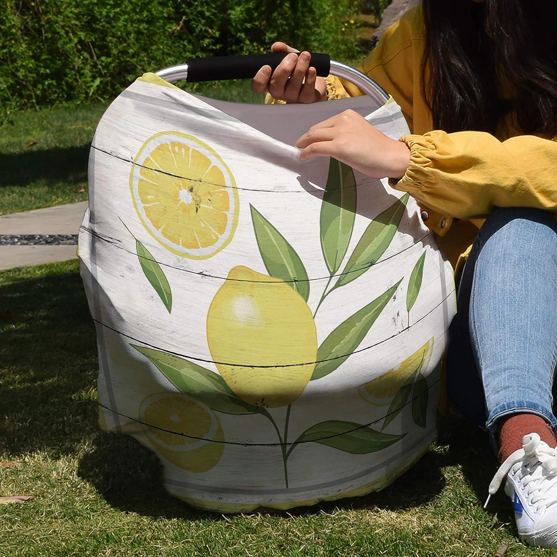 Nursing Cover for Breastfeeding Super Poncho Lemon Leaves Selling 40% OFF Cheap Sale rankings R Soft