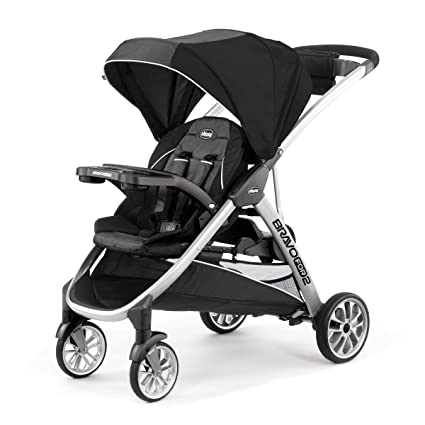 Chicco Bravo For2 Standing/Sitting Double Stroller - Best For Uneven Surfaces