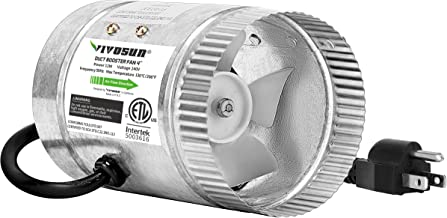 VIVOSUN 4 inch Inline Duct Booster Fan 100 CFM, HVAC Exhaust Intake Fan, Low Noise & Extra Long 5.5' Grounded Power Cord