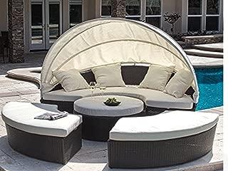 Outdoor Bellagio 4-piece Cabana Sectional Set
