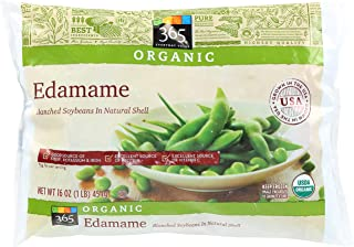 365 Everyday Value, Organic Edamame, Blanched Soybeans in Natural Shell, 16 oz, (Frozen)