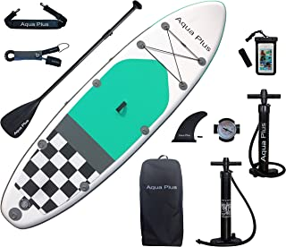Aqua Plus 10ft6inx33inx6in Inflatable SUP for All Skill Levels Stand Up Paddle Board Boat, Adjustable Paddle,Double Action...