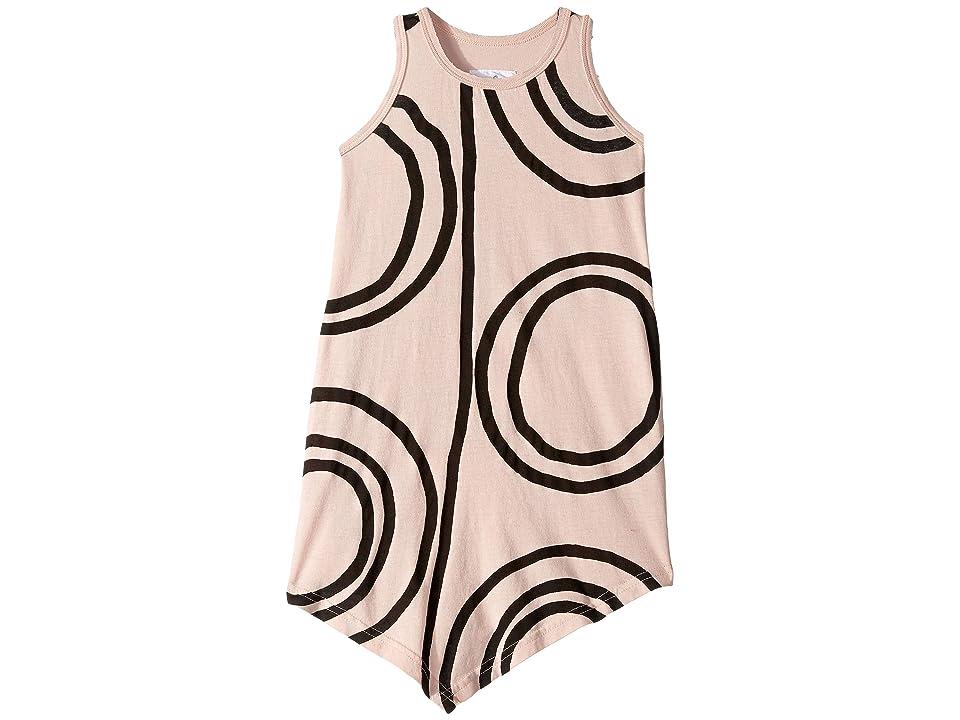 Nununu Circle Tank Top Dress (Toddler/Little Kids) (Powder Pink) Girl