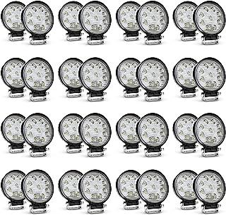 Nilight LED Light Bar 32PCS 27W Round Spot Driving Lamp Waterproof Off Road Fog Lights, 2 Years Warranty
