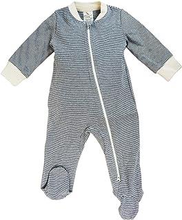 Dordor & Gorgor Organic Zip Front Sleep 'N Play, Unisex Baby Footed Pajamas, Cotton