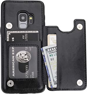 Vaburs S9 Case Wallet with Card Holder, Vaburs Premium PU Leather Double Magnetic Buttons Flip Shockproof Protective Cover...
