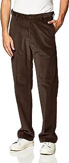 Haggar Men's Corduroy Classic Fit Flat Front Expandable Waistband Pant Pants