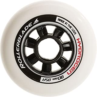 Rollerblade Hydrogen 90mm 85A Wheels (8 Pack), White, One Size