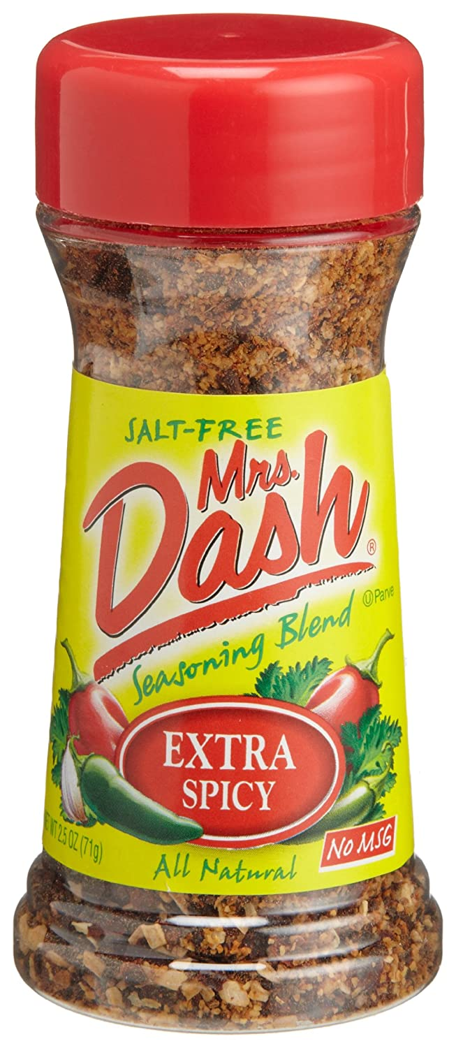 Mrs. Dash Extra Spicy Import Salt supreme Free Shakers 2.5-Ounce Pack o Blend