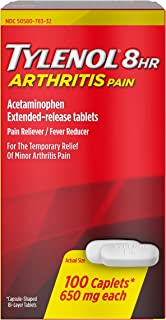 Tylenol 8 Hour Arthritis Pain Tablets with 650 mg Acetaminophen for Arthritis & Joint Pain, 100 ct