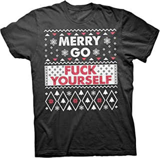 ShirtInvaders Merry Go Fuck Yourself - Ugly Christmas Sweater T-Shirt