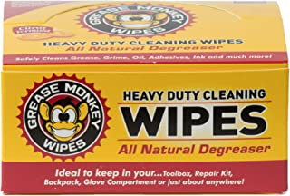 Grease Monkey Wipes Individual Heavy Duty Cleaning Wipes, 24-Count