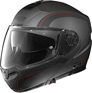 Nolan N104 Action Helmet (Flat Gray/Red, X-Small)