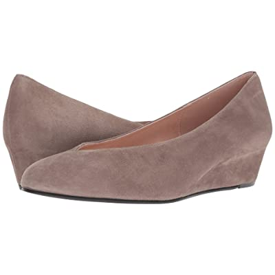 French Sole Cubic Wedge Heel (Mushroom Suede) Women