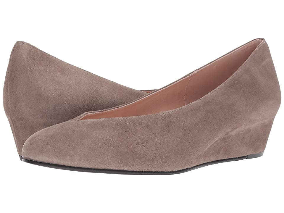 French Sole Cubic Wedge Heel (Mushroom Suede) Women