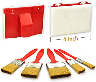 6 Piece 4 inch Paint Edger Tool kit with Paint Brush Set 1/2,1,1.5,2,2.5INCH