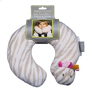 Blankets & Beyond Baby Travel Pillow - Zebra (Pink)