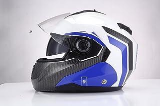 Sparco Riders - Casco Modular para Moto Large Blanco/Azul