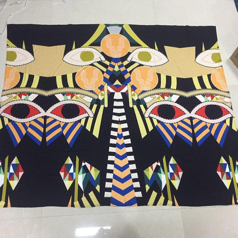 Abstrakte Drucksystemhaupttapisseriewand-Badetuchstrand-Sitzende Decke , schwarz Owl Owl Owl , M 150130 B0787VLSG7 8e1ab0