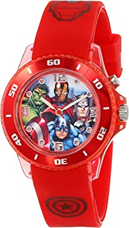 Marvel The Avengers Kids' AVG3507 Analog Display Analog Quartz Red Watch