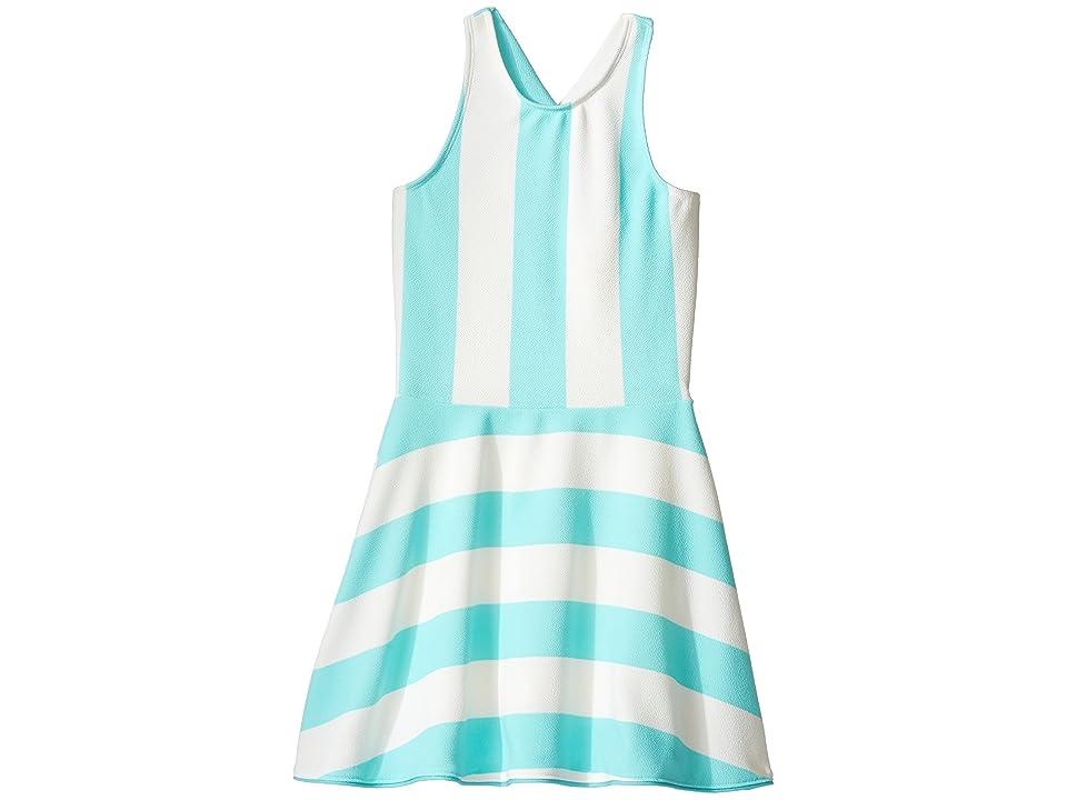 fiveloaves twofish Lilo Sporty Dress (Big Kids) (Mint Stripe) Girl