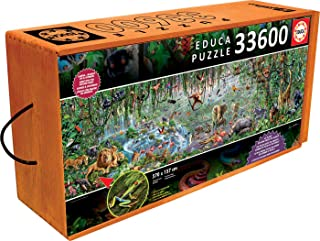 Educa 33,600 Piece Wild Life Puzzle with Wheeled Wooden Carry Case