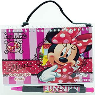 Disney Minnie Mouse Red Autograph Book with 1 Retractable Pen