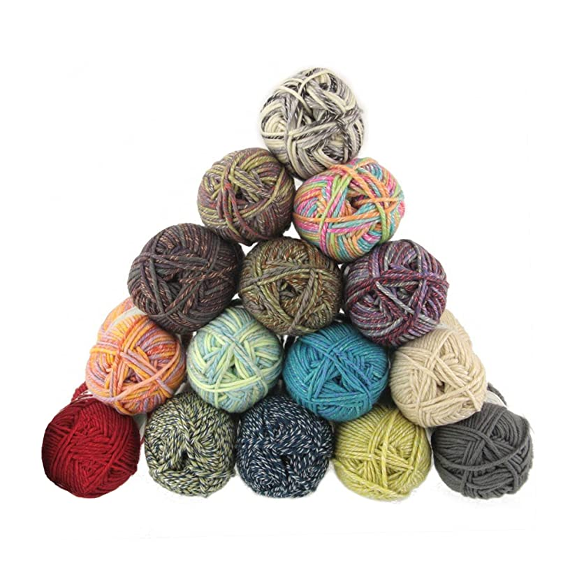 Chunky Melody 70% Wool 30% Arcylic Blend Yarn, Bulky, 3 Skein Assorted Color Surprise Package