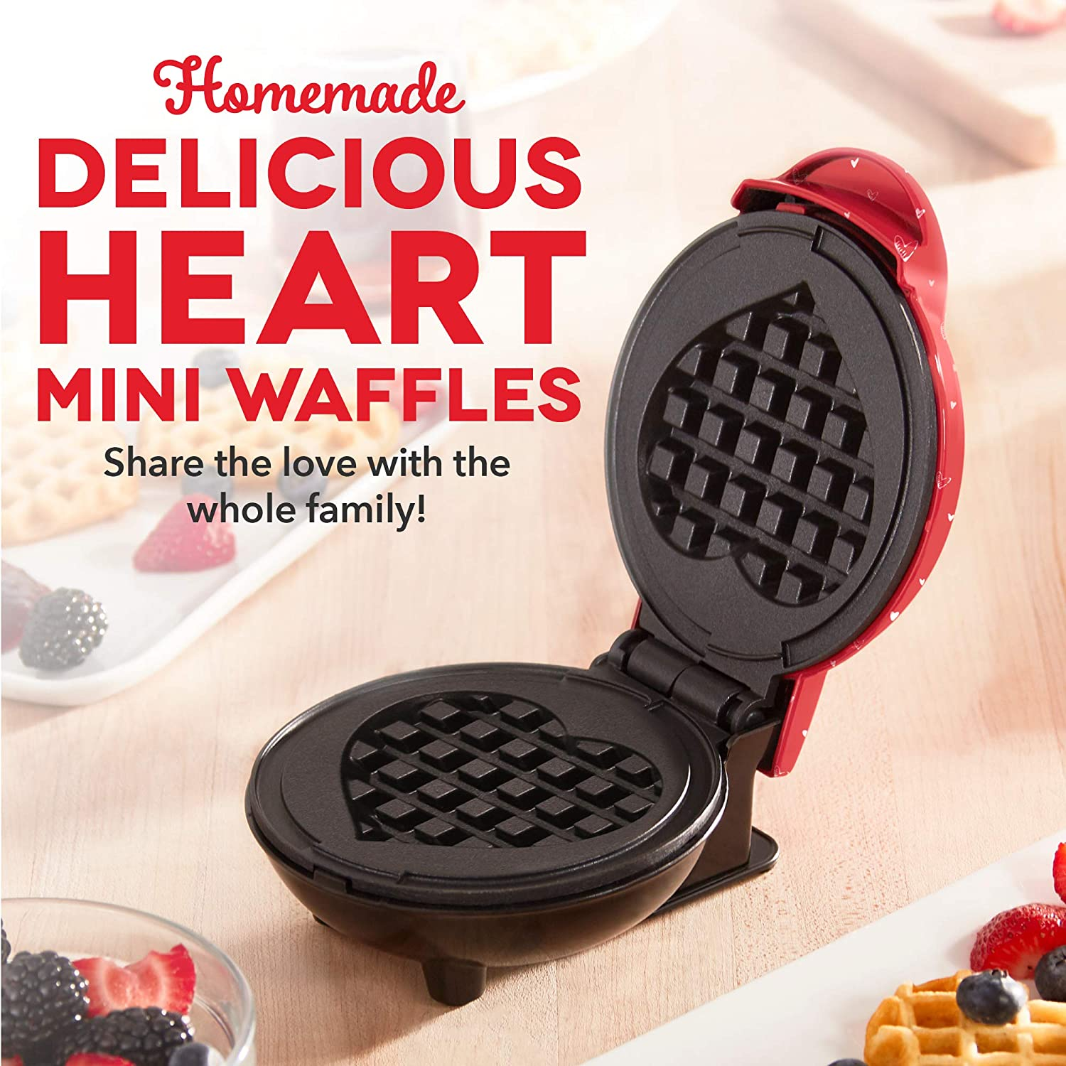 Paninis & other Mini waffle maker Dash DMWP001OR Machine for ...