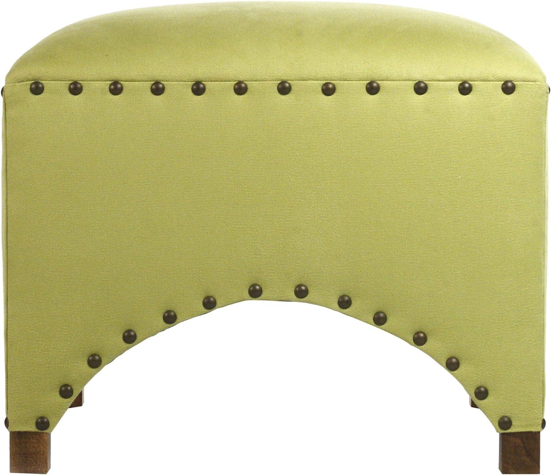 Zentique Scalloped Stool, Green