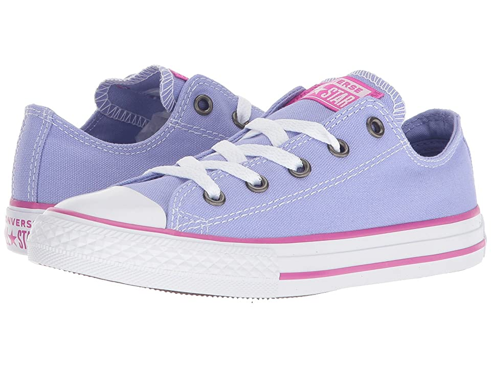 Converse Kids Chuck Taylor(r) All Star(r) Seasonal Ox (Little Kid/Big Kid) (Twilight Pulse/Hyper Magenta/White) Girls Shoes