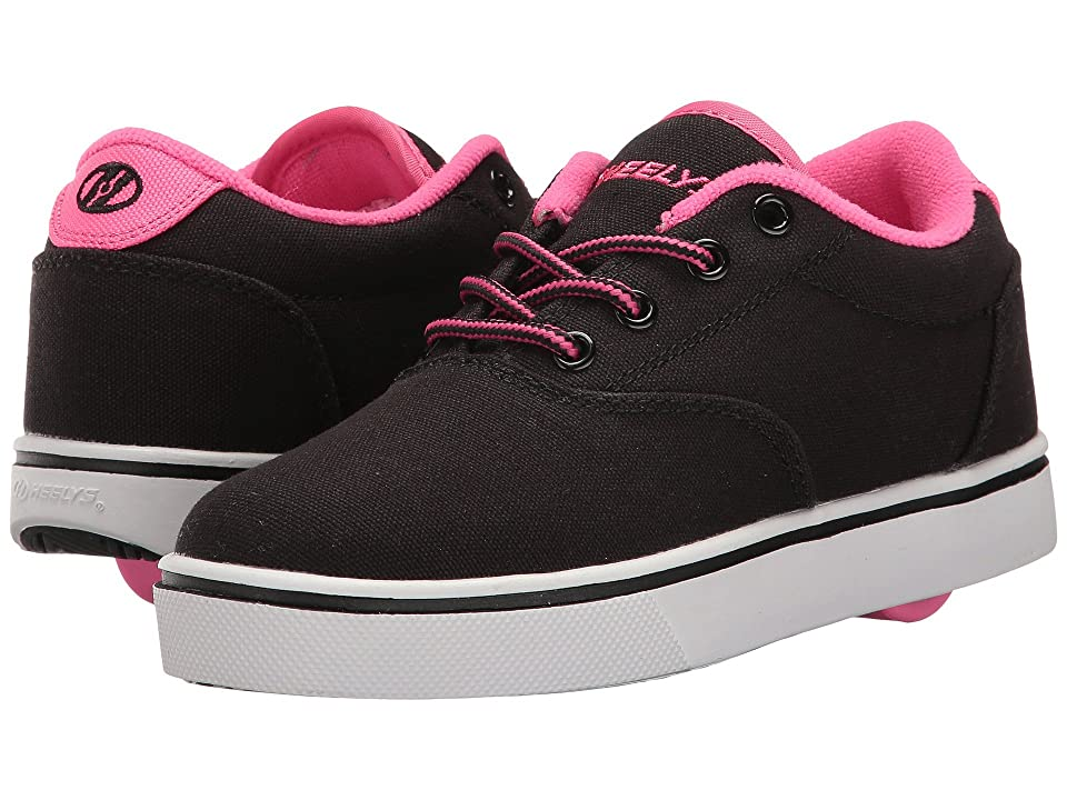 Heelys Launch (Little Kid/Big Kid/Adult) (Black/Neon Pink/White) Kids Shoes